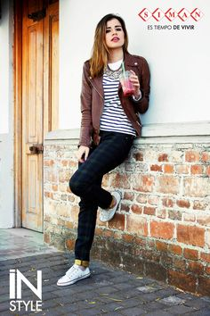 #FashionBySIMAN & Stylish Everywhere: El outfit perfecto es aquel que te hace lucir #InStyle de forma práctica y sencilla sin perder la comodidad, este look es perfecto para días llenos de mucho movimiento ya sea en la universidad o con tus amigos.