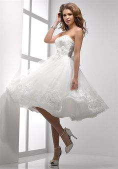 Strapless Knee Length Wedding Dress Sottero And Midgley Isabella Leigh Would Be A Great