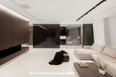 Интерьеры квартиры в жк Дом на Мосфильмовской - Освещение в современном стиле c…