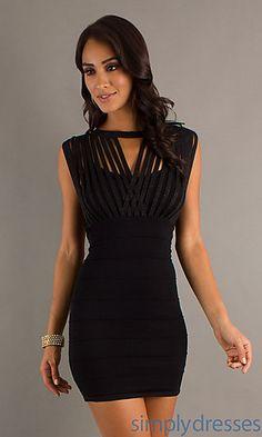 Short Black Bandage Style Dress ...