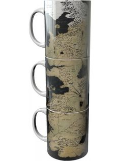 Game Of Thrones | Mug Set of 3 Westeros Map