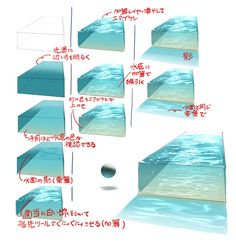 Metal shading tutorial by dansyron how to art drawing aids pinterest tutorials and metals How to draw swimming pool water