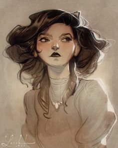 have a soft spot for the Gibson girl aesthetic :) and the blurry feel of old photographs! Illustration Artists, Character Illustration, Comic Illustrations, Studio Ghibli, Animation 3d, Loish, Cool Art Drawings, Cartoon Sketches, Gibson Girl