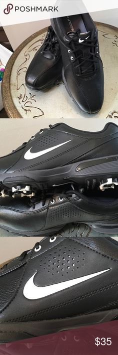 Men's size 8 new with tags golf shoes Nike Get this great pair of Nike men's golf shoes in size 8! Brand-new! My son grew out of the before he ever wore them! My loss is your gain! Nike Shoes