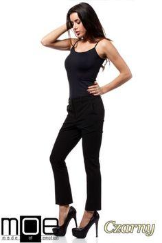 Eleganckie spodnie na kant długości 7/8 marki MOE.  #cudmoda #moda #styl #ubrania #odzież #clothes