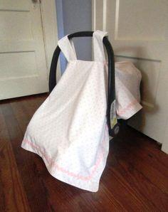 Ballerina Pink Car Seat Canopy by PeachesandCotton on Etsy