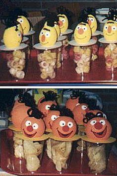 Knutselidee: Bert en Ernie trakteren op je verjaardag.