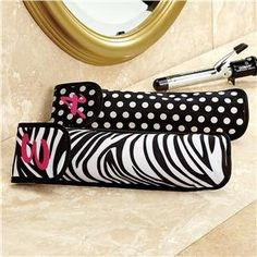Styling Iron Travel Cases | Lillian Vernon - Bath Time | Lillian Vernon...the zebra one of course...