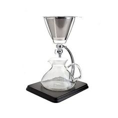 Other Coffee and Tea Makers 159902: Yama Glass Yama Glass Silverton Coffee Tea With Stainless Cone Filter Clear -> BUY IT NOW ONLY: $111.77 on eBay!
