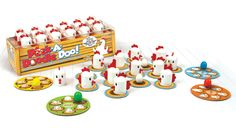 "Peek-A-Doodle Doo and over 7,500 other quality toys at Fat Brain Toys. Cluck! Cluck! What an ""egg-cellent"" memory you have! A ""My First Game"" for your clever little farmer. With its constant motion, Peek-A-Doodle Doo engages your child's memory and concentration in a farm fresh way!"