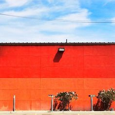 photo by happymundane on Instagram #orange #red #wall #stripe
