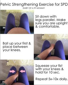 Great exercise to help build pelvic floor muscles during pregnancy to prevent and treat pelvic pain or SPD.