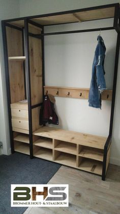 Bedroom Storage Ideas For Clothes, Clothes Shelves, Bedroom Closet Storage, Bedroom Closet Design, Home Room Design, Home Decor Bedroom, Diy Furniture Chair, Space Saving Furniture, Metal Furniture