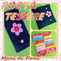 Porta tessere in jeans e cotone