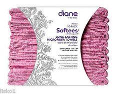 "LISKO BEAUTY BARBER SUPPLY - SALON TOWELS Diane Softees Microfiber Salon-Nail-Spa stain resistant towel,16""x29"" Pink"