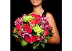 A bright and colourful bouquet filled with floral favourites. Roses, orchids, crissies, carnations and foliage combine for a gorgeous bouquet. Shown here is the (S) size and also available in (M), (L) and (XL). https://www.jodie.com.au/brightness
