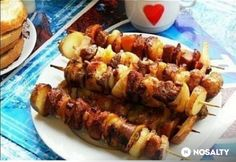Sertés grillnyárs | NOSALTY Sausage, Grilling, Cooking Recipes, Chicken, Foods, Drinks, Food Food, Drinking, Food Items