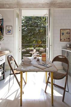 sunny white kitchen