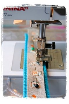Use Bernina #10 foot to attach ribbon to webbing, amongst other things.