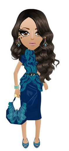 """FASHION DESIGNER GAME DESIGNS BY MISHA: TURQUOISE """"FIRST LADY"""" DRESS AND BUTTERFLY BAG"""