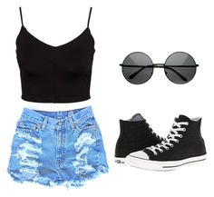 """""""Wine & Kotch"""" by tiaramb11 ❤ liked on Polyvore featuring Glamorous and Converse"""