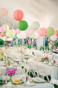 Garden party themed wedding