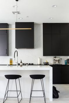 #kitchen | These Are Some of the Best, Boldest Uses of Black | Apartment Therapy