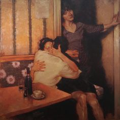 Kai Fine Art is an art website, shows painting and illustration works all over the world. Illinois, Joseph Lorusso, Lovers Embrace, Chicago, Old Hollywood Glam, Norman Rockwell, Couple Art, Figurative Art, Contemporary Artists