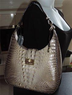 NEW EXOTIC BRAHMIN QUINN ECLIPSE MELBOURNE Multi Tones Leather Hobo Handbag $265 #Brahmin #Hobo