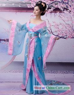 Ancient Chinese Tang Dynasty Women Clothing and Headwear Complete Set