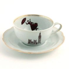 Mary Poppins tea cup @Melissa Kenward Uslan this made me think of you!