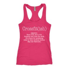 """Crossfit-ishNot Sold in Stores!  Guaranteed safe and secure checkout via: Paypal / Visa / MasterCard . Click on the """"I want mine now"""" button to get yours!.    Top quality Next Level Tri-Blend Racerback Tank Tops and 60/40 t-shirts!Click below to choose between tanks or t-shirts."""