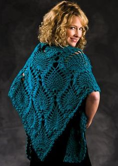Peacock Shawl: free #crochet #shawl #pattern