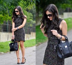 Lashes Of London Dress, Persunmall Bag, Just Fab Heels