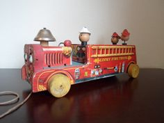 Vintage Fisher price Looky Fire Truck Made by alsredesignvintage, Etsy