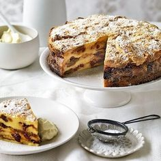 Bread and Butter Pudding Cake