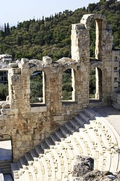 Ruins of Theatre of Dionysus, Acropolis, #Greece -- ancient grandeur!  Learn more about Greece's ancient grandeur at http://www.examiner.com/article/experience-the-acropolis-and-the-grandeur-of-the-parthenon-and-erechtheum