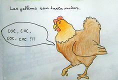 Las gallinas son tartamudas