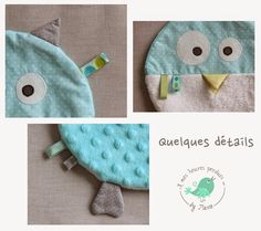 A mes heures perdues ...: Chouette, des étiquettes ... Kids Rugs, Baby, Pillows, Jouer, Sew Baby, Couture Facile, Owls, Animaux, Fit