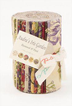 Moda AUDRA'S IRIS GARDEN Dessert Roll 20 5 x 44 by donellefritz, $30.73