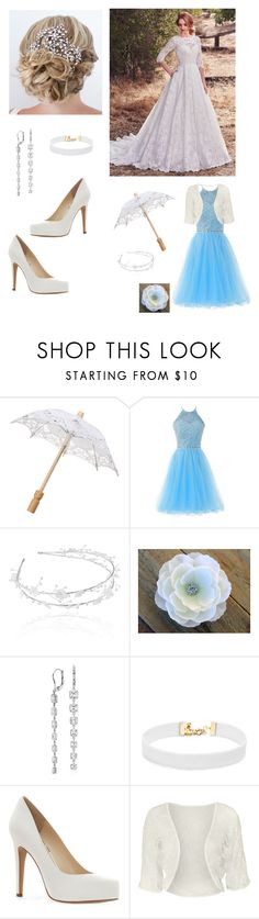 """""""Wedding"""" by genevieve-jeannette-geoffrion on Polyvore featuring Maggie Sottero, Linni Lavrova, Blue Nile, Vanessa Mooney, Jessica Simpson and WearAll"""