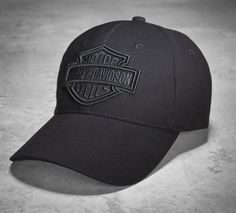 A stealthy men's baseball cap. #ValentinesDay | Harley-Davidson Men's Phantom Logo Cap