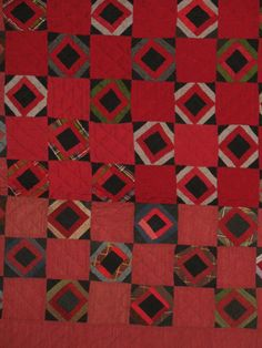 I'd love to make a woollen quilt like this; just imagine how cosy it would be in the cooler months. I love the rich colours and the striking simplicity of the design. The longer you look the more patterns you see. (And you'd think it's modern, but it's not.) Just gorgeous.
