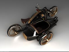 steampunkholmes: The Black Widow Gets a Side Car
