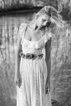 Anja Rubik Stuns for the Edit, Talks Naked Images - Mariage Hippie Style, Mode Hippie, Gypsy Style, Bohemian Style, Bohemian Bride, Hippie Chic, Style Nomade, Boho Chic, Vetements Clothing
