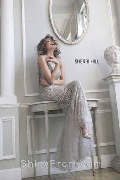 Sherri Hill 4802 Gray, Silver Dress