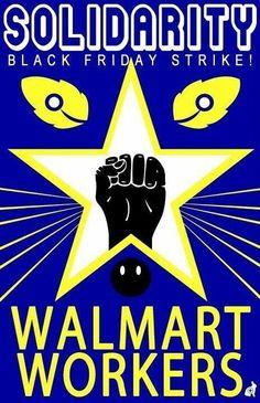 Walmart strike poster, November 2013