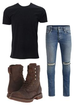 """""""Teen Wolf Story - Day 1: Grayson (meeting/seeing him for the first time)"""" by diabeticnerd on Polyvore featuring Durango, Jack & Jones, Simplex Apparel, men's fashion and menswear"""