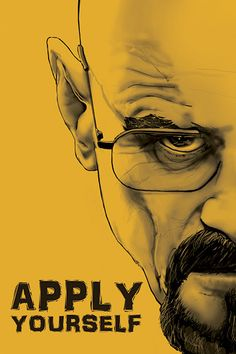 Breaking Bad Greeting Card // Walter White -- Heisenberg // Apply Yourself