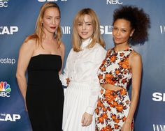 """Uma Thurman hit the red carpet at """"The Slap"""" premiere in NYC with a new, fresh-faced look!"""